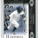 2008 Topps Moments & Milestones Curtis Granderson Detroit Tigers #d 20/25 11 Doubles
