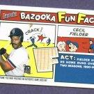 2005 Bazooka Topps Cecil Fielder Bat Card Detroit Tigers