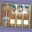 2005 Playoff Team Trios Craig Monroe Magglio Ordonez Mike Maroth Detroit Tigers Game Used