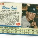 1962 Post  Norm Cash Detroit Tigers Card