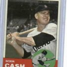 1963 Topps Norm Cash # 445 Detroit Tigers NICE !!!