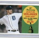 2008 Topps 50th Aniv All Star Rookie Justin Verlander Detroit Tigers