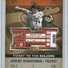 2003 Fleer Authentix Ticket To The Majors Jeremy Bonderman Detroit Tigers #d 1250