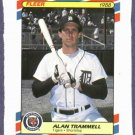 1988 Fleer Superstars Alan Trammell Detroit Tigers Baseball Card Oddball