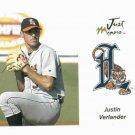 2005 Just Minors PREVIEW Justin Verlander ROOKIE Detroit Tigers