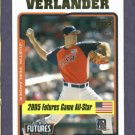 2005 Topps Updates & Highlights Justin Verlander Detroit Tigers ROOKIE
