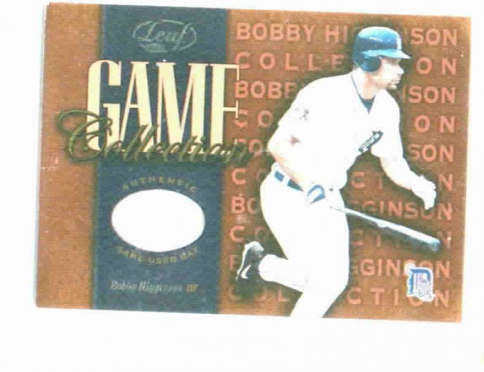 2002 Leaf Game Collection Bobby Higginson Bat Card Detroit Tigers