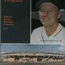 1980 Detroit Tigers Spring Trainig Program Al Kaline HOF Cover