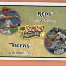 2008 Upper Deck Timeline BB Heroes Ivan Rodriguez Johnny Bench Detroit Tigers