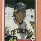 1981 Topps Alan Trammell Detroit Tigers