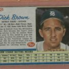 1962 Post Dick Brown Detroit Tigers