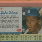 1962 Post Jake Wood Detroit Tigers