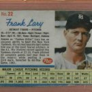 1962 Post Frank Lary # 22 Detroit Tigers