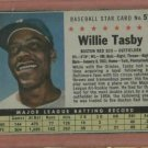 1961 Post Willie Tasby # 51 Detroit Tigers