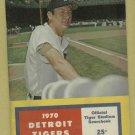 1970 Detroit Tigers Scorebook Al Kaline Cover