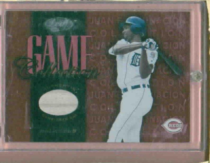2002 Leaf Game Collection Juan Encarnacion Bat Card Detroit Tigers