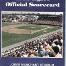 1992 Detroit Tigers Spring Training Scorecard