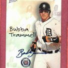 1998 Best Card Certified Autograph Bubba Trammell Detroit Tigers