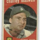 1959 Topps Charley Maxwell Detroit Tigers # 481   NICE