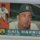 1960 Topps Gail Harris Detroit Tigers Baseball Card