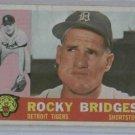 1960 Topps Rocky Bridges Detroit Tigers Baseball Card