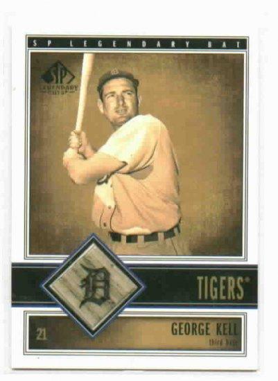 2002 SP Legendary Cuts George Kell Detroit Tigers Bat Baseball Card