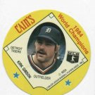 1985 Cains Chips Kirk Gibson Detroit Tigers Baseball Disc 1984 World Champions