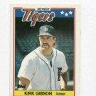 1988 Topps UK Mini Kirk Gibson Detroit Tigers Baseball Card Oddball