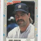 1988 Fleer Star Sticker Kirk Gibson Detroit Tigers Baseball Card