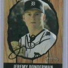2003 Bowman Heritage Jeremy Bonderman Detroit Tigers Autographed Baseball Card Auto Rookie