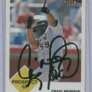 2003 Fleer Tradition Craig Monroe Detroit Tigers Autographed Baseball Card Auto Rookie