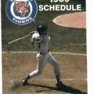 1989 Detroit Tigers Pocket Schedule Alan Trammell Front