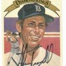 1982 Donruss Diamond Kings Alan Trammell Detroit Tigers Autographed Baseball Card Auto ERROR