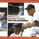 1987 - 88 Miller Lite Detroit Tigers Calander Anderson Lou Whitaker Jack Morris Kirk Gibson Cover