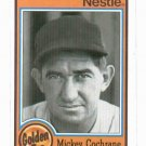 1987 Topps Nestle Mickey Cochrane Detroit Tigers Baseball Card Oddball
