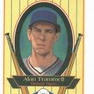 1993 Metz Baking Alan Trammell Detroit Tigers Baseball Card Oddball