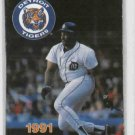 1991 Detroit Tigers Pocket Schedule Cecil Fielder