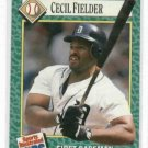 1991 Sports Illustrated For Kids Cecil Fielder Detroit Tigers Baseball Card