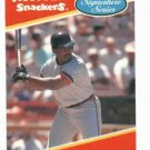 1991 MooTown Snackers Signature Series Cecil Fielder Detroit Tigers Baseball Card