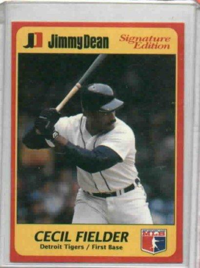 1991 Jimmy Dean Signature Edition Cecil Fielder Detroit