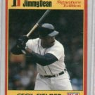 1991 Jimmy Dean Signature Edition Cecil Fielder Detroit Tigers Baseball Card