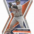 2008 Upper Deck X Silver Die Cut Miguel Cabrera Detroit Tigers Baseball Card