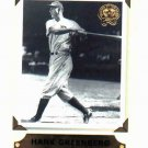 2001 Fleer Greats Of The Game Hank Greenberg Detroit Tigers Baseball Card