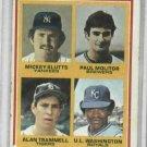 1978 Topps Alan Trammell Detroit Tigers Baseball Card ROOKIE