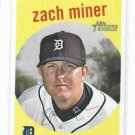 2008 Topps Heritage Black Zach Miner Detroit Tigers Baseball Card