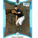 2008 Bowman Chrome Ryan Strieby Detroit Tigers Baseball Card Rookie