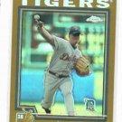2004 Topps Chrome Gold Refractor Jeremy Bonderman Detroit Tigers Baseball Card