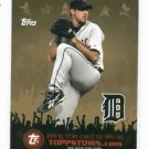 2009 Topps Town Gold Justin Verlander Detroit Tigers Baseball Card