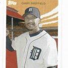 2009 Topps Walmart Gary Sheffield Detroit Tigers Baseball Card