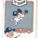 1975 Detroit Tigers Media Guide With Rare Al Kaline Insert